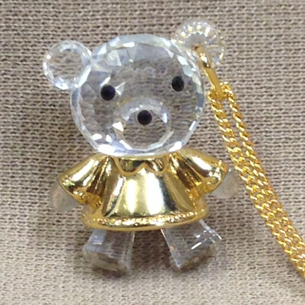 SWAROVSKI【スワロフスキー】クリスタル・ネックレス クマ