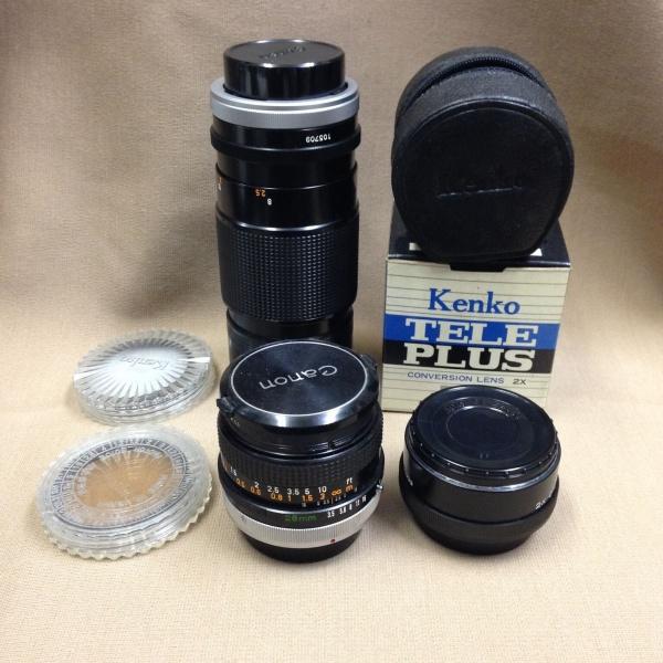 【ジャンク品】カメラレンズ3点+レンズフィルター2点セット動作未確認